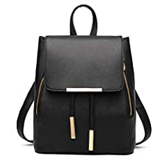 Material-High quality PU leather,nice touch gold metal hardware,durable polyester lining Size-31cm (Heigh) x 26cm (Length)x 16cm (Width),cute-beautiful backpack purse Structure-1 zippered back pocket and 5 interior pockets (2 zippered pocket, 1 main ...