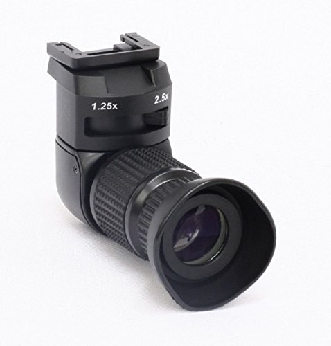 Impulsfoto Profi Winkelsucher 1,25-2,5X kompatibel mit Canon EOS, Nikon, Fuji, Pentax, Minolta und Olympus Kameras
