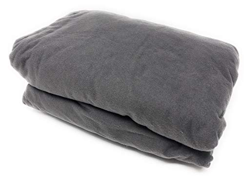 Maymarg Bedding%100 Cotton Heavyweight Flannel Solid Fitted Sheet (Grey, Queen)
