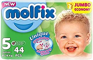 Molfix Anti Leakage Comfortable Junior Baby Diapers, 11-18 kg, 44 Count