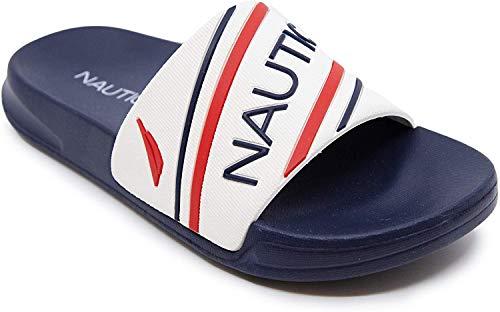 Nautica Kids Youth Athletic Slide Slip-On Sandalia – Niño grande/niño pequeño | niños – niñas |