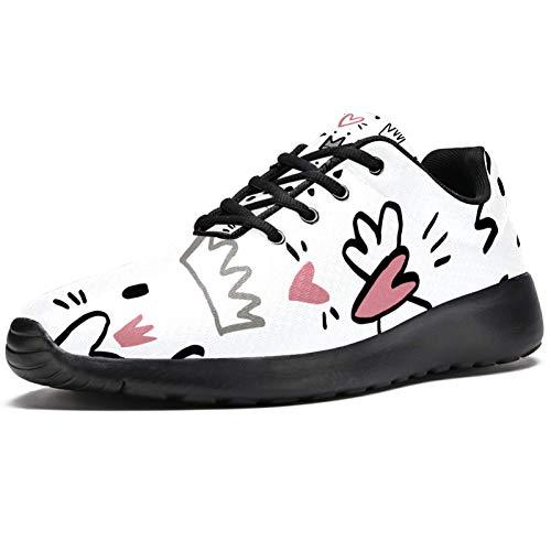 LORVIES - Corona imantada en forma de corazón, zapatillas deportivas para hombre, estilo casual, para hombre, (multicolor), 41 EU