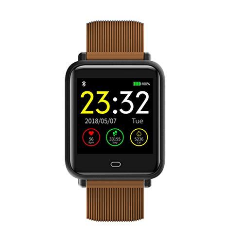 CWGWNXGY Sport Smart Horloge Dames Heren Waterdicht Smart Horloge Met Hartslag Bloeddruk, A, Koffie