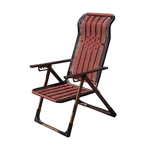 LLSS Folding Chair Foldable Outdoor Garden Rocking Chair Rocker Adjustable Headrests for Zero Gravity Camping Fishing for Home Office Dining