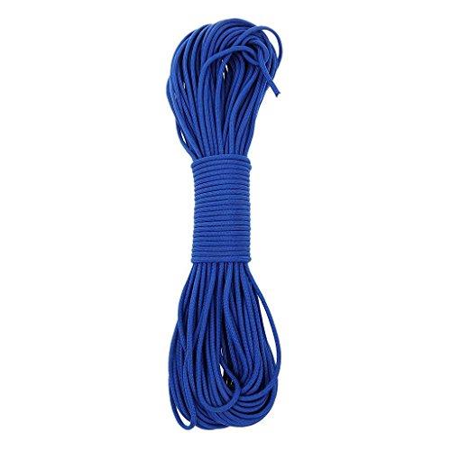 FUNSPORTING Paracord 550 Seil - Länge 31 Meter - Parachute Cord mit 4 mm Durchmesser und 7 Kernschnüren - reißfestes Nylon - Survival-Seil - Mehrzweck-Seil (blau)