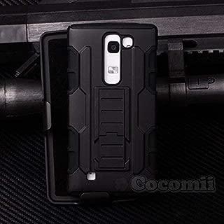 Cocomii Robot Armor LG K7/Tribute 5/Escape 3/Phoenix 2/Treasure Case New [Heavy Duty] Premium Belt Clip Holster Kickstand Shockproof Bumper [Military Defender] Full Body Cover for LG K7 (R.Black)