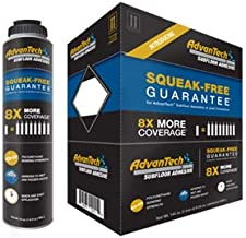 AdvanTech Subfloor Adhesive | Polyurethane Construction Adhesive | 8X More Coverage | Squeak Free Guarantee | Includes (6) 24 oz. cans