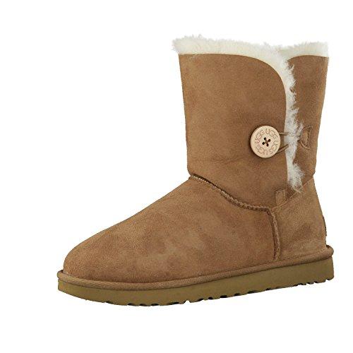 UGG Damen W Bailey Button II Winter Boot, Chestnut, 42 EU