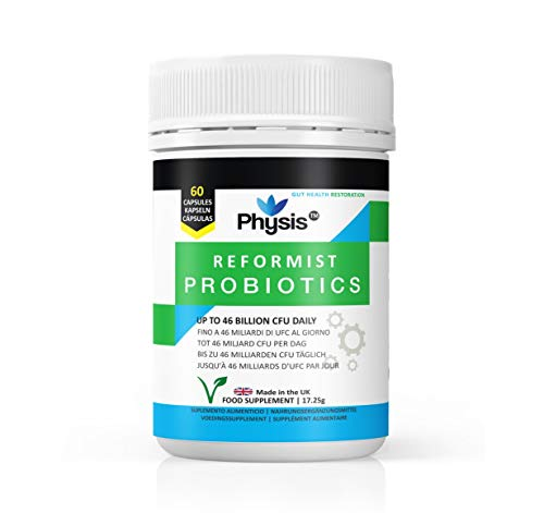 Physis Reformist Probiotic Supplement   60 Capsules   23 Billion CFU   Probiotic Tablets Fresh & Vegan   Probiotics Women and Probiotics for Men   Complex Probiotic Capsules   Includes Lactobacillus
