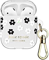 kate spade new york Scattered Flowers Case for AirPods 2 & 1 - Protective Wireless Charging Cover with Keychain (Front...
