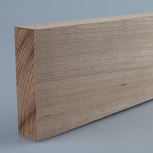 Rechteckleiste Bastelleiste Abschlussleiste aus unbehandeltem Buche-Massivholz 1000 x 20 x 75 mm