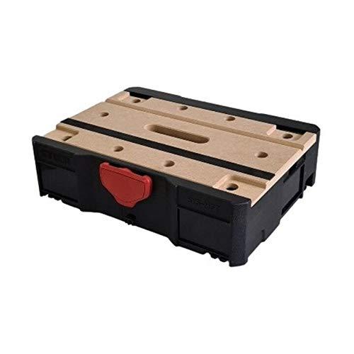 STIER Systainer T-LOC MFT BLACK-Edition, 396x296x105mm, mobile Werkbank, Spanntisch, Transportbox