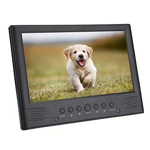 TV Digital portátil de 10 Pulgadas, TV analógica Digital DVB-T / T2, para Dormitorio Interior, automóvil, Soporte de Video 1080P, MKV, MOV, AVI, WMV, MP4, FLV, MPEG1-4, MP3