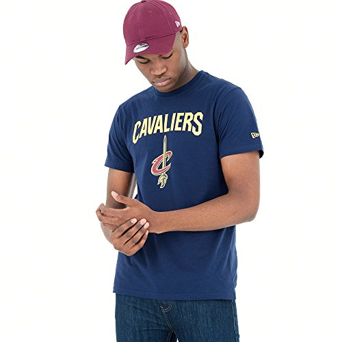 New Era Cleveland Cavaliers T-Shirt, Maglietta Uomo, Blu, XXL