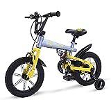 AI-QX 14-18 Pouces Vélo Enfant Étude d'apprentissage équitation Vélo Garçons Filles Vélo avec Stabilisateurs Vélo avec Bell pour Enfant de 3 à 6 Ans,Gray,16''