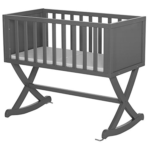 Dream On Me Luna/Haven Cradle, Steel Grey