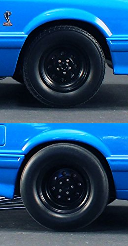 """Wheels and Tires Set of 4 from 1993 Ford Mustang Cobra 1320 Drag Kings """"King Snake"""" 1/18 by GMP 18894"""