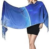 Bufanda de mantón Mujer Chales para, Beautiful Sky Women 's Fashion Long Shawl Winter Warm Bufanda grande Bufanda de cachemira