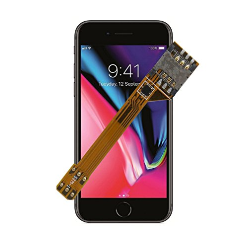 GVKVGIH Dual SIM Card Adapter Set for iPhone 8, Flexible SIM Card Extender for The Quickest Switching
