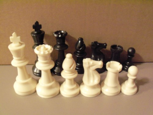 Staunton Tournament Chess Pieces, Triple Weighted with 3.75