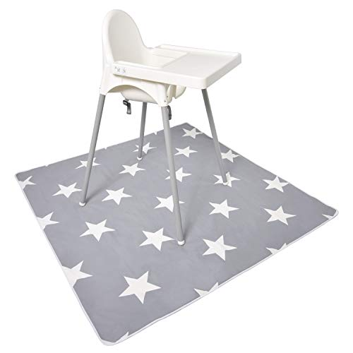 130cm² High Chair Baby Spill Mat by Oliver's Boutique. Portable, Waterproof, Safe, Anti-Slip Splat Mat for Under High Chairs