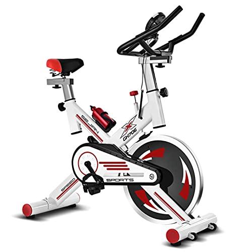 Spinning Bike Bicicleta Estática para El Hogar, Bicicleta Estacionaria Interior De Altura Ajustable, Bicicleta De Spinning con Monitor Digital Y Sensores De Frecuencia Cardíaca