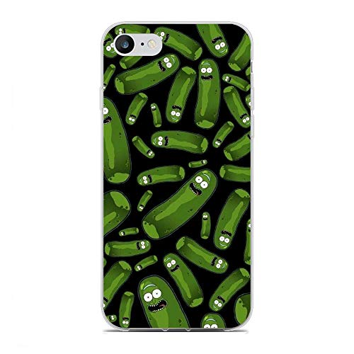 Jialan Soft Clear Coque Transparent Anti-Slip Shockproof Case Cover For Apple iPhone 6/6s-Rick-Morty Cartoon 1
