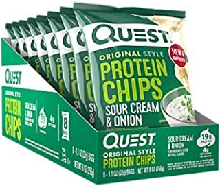 Quest Protein Chips Sour Cream Onion (8 Bags)