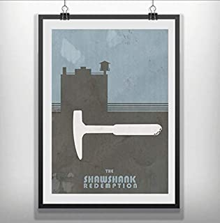 Shawshank Redemption Movie Poster Minimalist Poster for Fan Poster Home Art Wall Posters [No Framed]