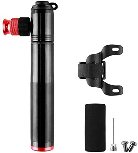 Plztou Bicycle Pump 2 1 Mini Portable Hand Pump Energy Bicycle Tire Pump Light Vehicle Used For Road Mountain Biking Suitable for Bicycles (Color : Silver, Size : 14cm) (Color : Black, Size : 14cm)