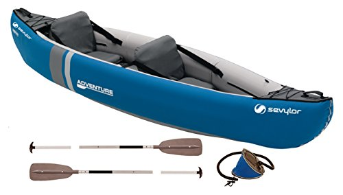 Sevylor Inflatable Kayak 2-Person Adventure Kit, Canadian Canoe with...
