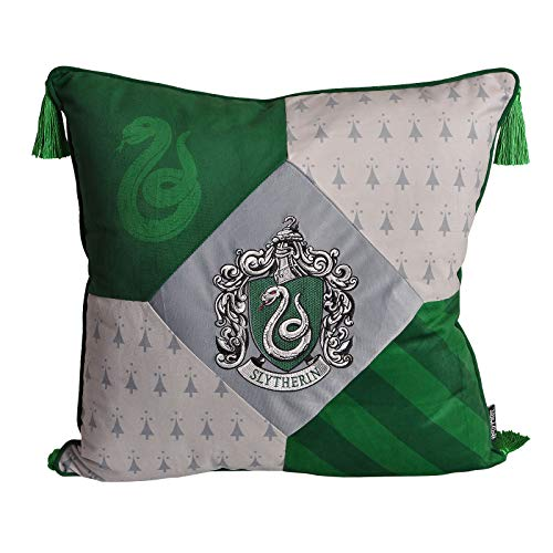 Harry Potter cushion Slytherin with tassels deluxe 48x48cm Elbe forest green gray