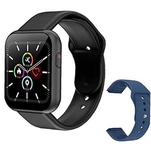 NaiCasy Inteligente Reloj táctil Completa SmartWatch Bluetooth con Prueba de Velocidad de Repuesto Negro Correa corazón X6 Plus Inteligente de Pulsera Deporte Hombres Azul