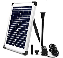 ECO-WORTHY 10W Solar Fountain Water Pump - Top 10 Best Solar Pond Pumps