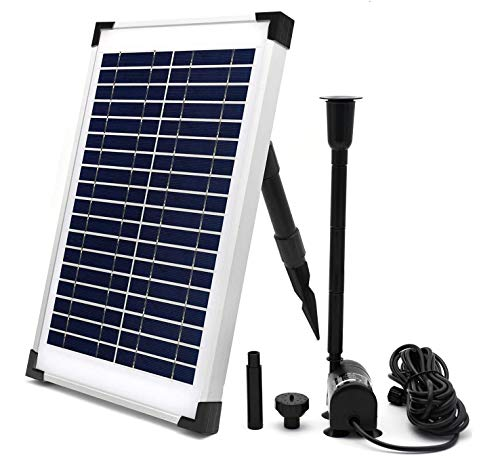 ECO-WORTHY Solar Fountain Water Pump Kit 10 W, 160GPH+ 12 Watt Solar Panel Submersible Powered Pump...