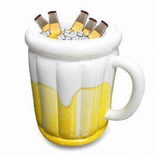 RongWang Cubo de Hielo Inflable de PVC, jarras de Cerveza en Enfriador de Cerveza al Aire Libre para congelador, Bebida como Cubo de Vino y Enfriador de Cerveza de plástico