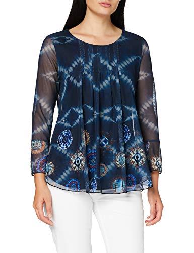 Desigual TS_LE Mans Camiseta, Azul, S para Mujer
