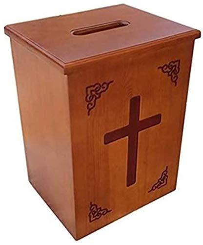 Nologo Wandbriefkästen Massivholz Geschnitzte Widmung Box Kirche Fundraising Box Kirche Widmung Box Wand befestigter Sicherheit Abschließbare