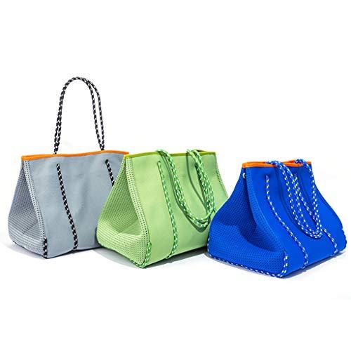 Mcbbigxw 1/3PC Luxuriöse Tauchen Stoff Neopren Atmungs Beach Tasche Schulter Große-kapazität Marke Casual Tote Tasche Schulter Taschen,Groß