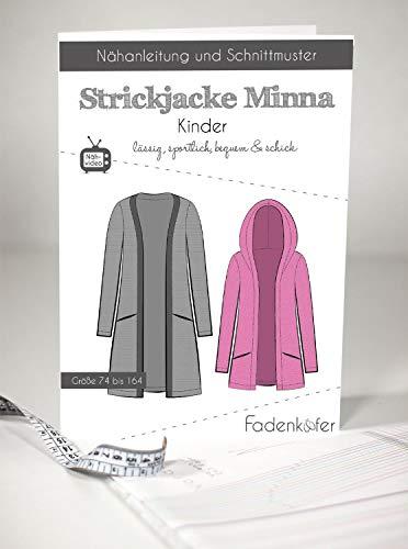 Schnittmuster Fadenkäfer Strickjacke Minna-Kinder Gr.74-164 Papierschnittmuster