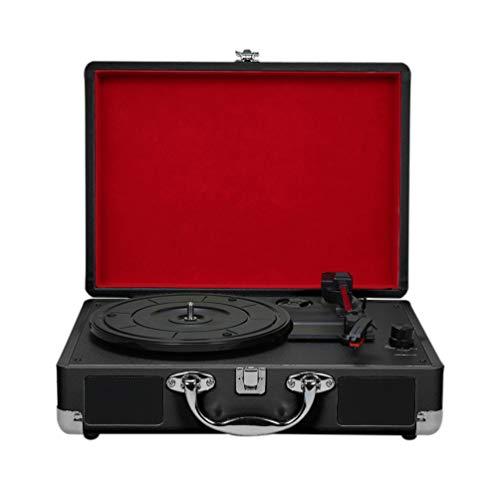 WNTHBJ Vintage gramófono, Tocadiscos, giradiscos con Altavoces, Tocadiscos estéreo para 180/200 / 300 mm de Registros