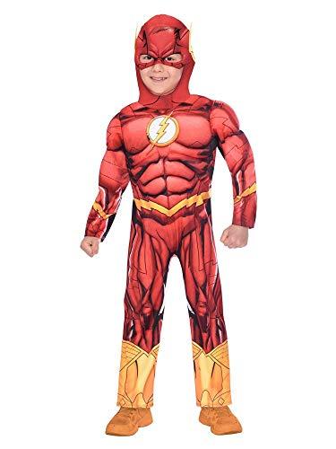 Disfraz de disfraces Flash de superhéroe para niños Edad: 3-4 años