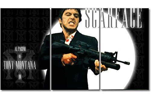 WandbilderXXL Immagine su Tela Scarface 180x 100cm–in 6Diverse Misure. Stampata su Tela e preparata su Telaio. Quadri su Tela a Prezzi Top.