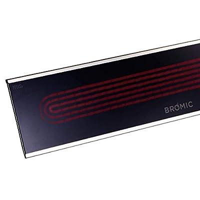 "Bromic Heating BH0320005 Platinum Smart-Heat - 50"" 3400W Electric Outdoor Patio Heater, Black Finish"