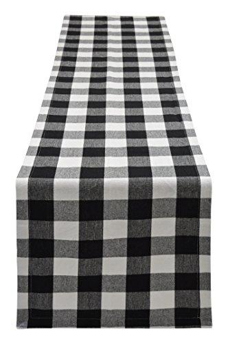 Yourtablecloth Buffalo Plaid Checkered Table Runner Trendy & Modern Plaid Design 100% Cotton Tablerunner Elegant D