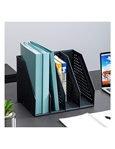 THHN Rack Plegable de Archivos Multiusos, 4 Racks de Archivos Verticales de Gran Capacidad Ampliable, organizan Archivos Usados revistas periódicos periódicos (Color : Black, tamaño : 13inchs)