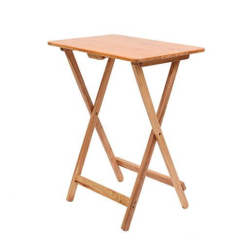 Petite Table carrée Pliante Bureau d'enfant Portable Table de Chevet en pin Simple Table de Jardin d'extérieur en Couleur Naturelle (Taille : 60 * 40 * 75cm)