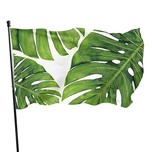 GOSMAO Bandera de jardín Hoja de Palmera Color Vivo y Resistente a la decoloración UV Bandera de Patio de Doble Costura Bandera de Temporada Wtodas Las Banderas 150X90cm