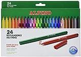 Rotuladores Alpino Coloring para Niños - Estuche de 24 Colores con Punta Fina 3mm - Tinta Lavable - Perfecto para Manualidades, Pintar Mandalas o Material Escolar