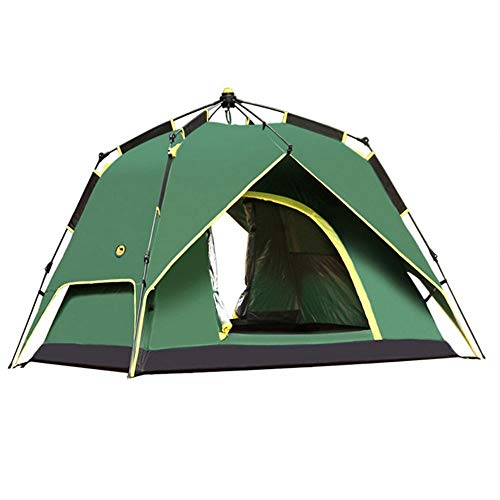 WGYDREAM Camping Tent Festival Camping Tent With BlackOut Bedroom Technology, Festival Essential, 100% Waterproof With Sewn In Groundsheet (Color : Green)